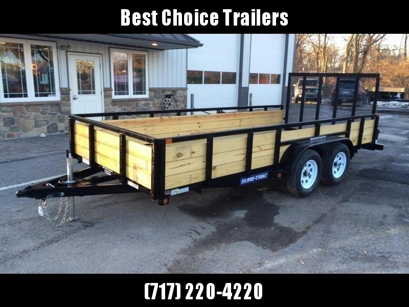 2019 Sure-Trac 7x16' Tube Top Three Board High Side Landscape Utility Trailer 7000# GVW