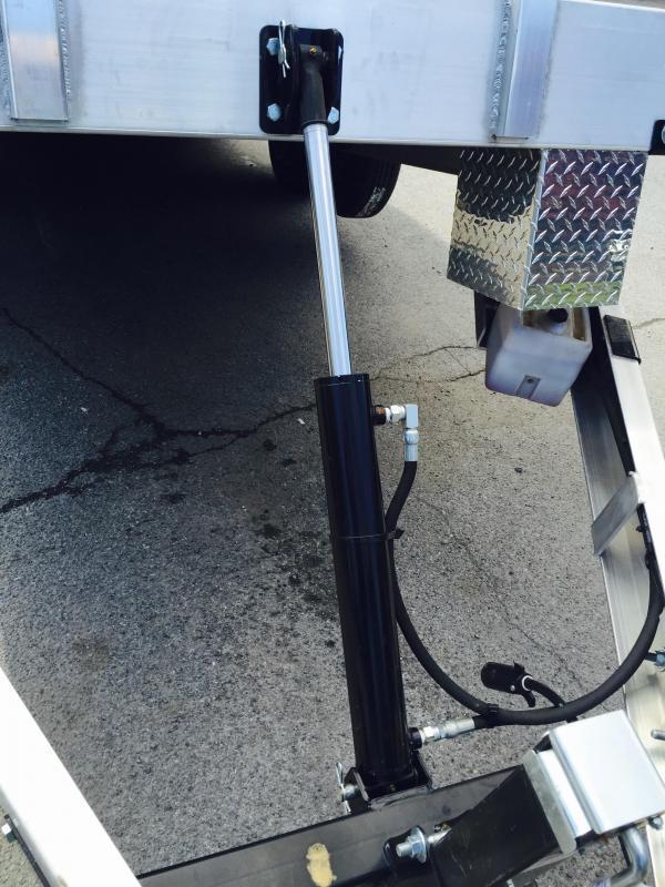 2018 H&H 7x20' 7000# Aluminum Power Tilt Car Hauler * POWER TILT * EXTRUDED FLOOR * SWIVEL D-RINGS * EXTRA STAKE POCKETS * CLEARANCE
