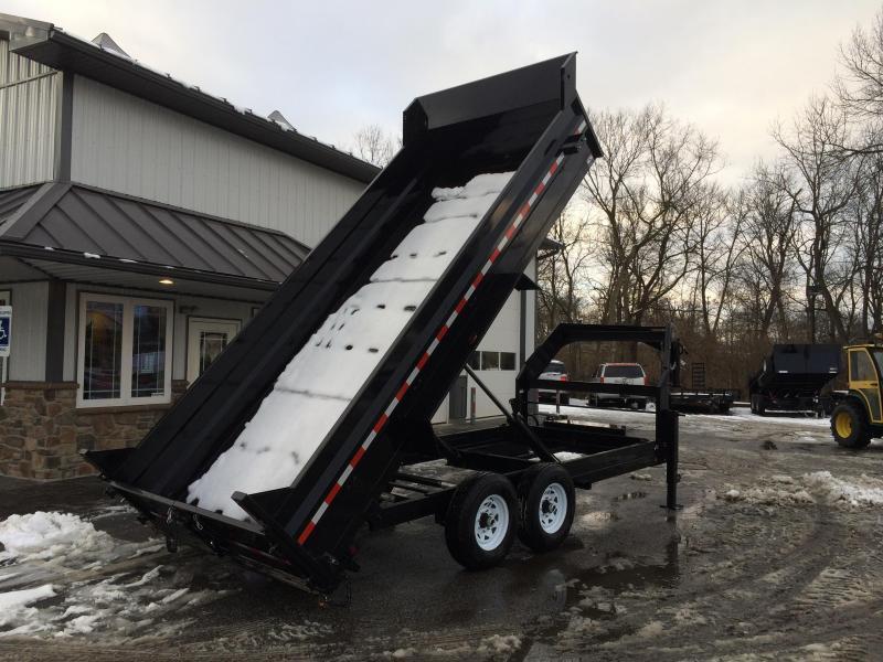 2018 Sure-Trac 7x14' Gooseneck Dump Trailer 14000# GVW