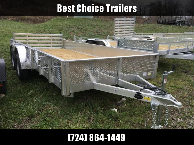 2018 QSA 7x16' Deluxe Aluminum Utility Trailer 7000# GVW - ATP SIDES * CLEARANCE - FREE ALUMNIUM WHEELS