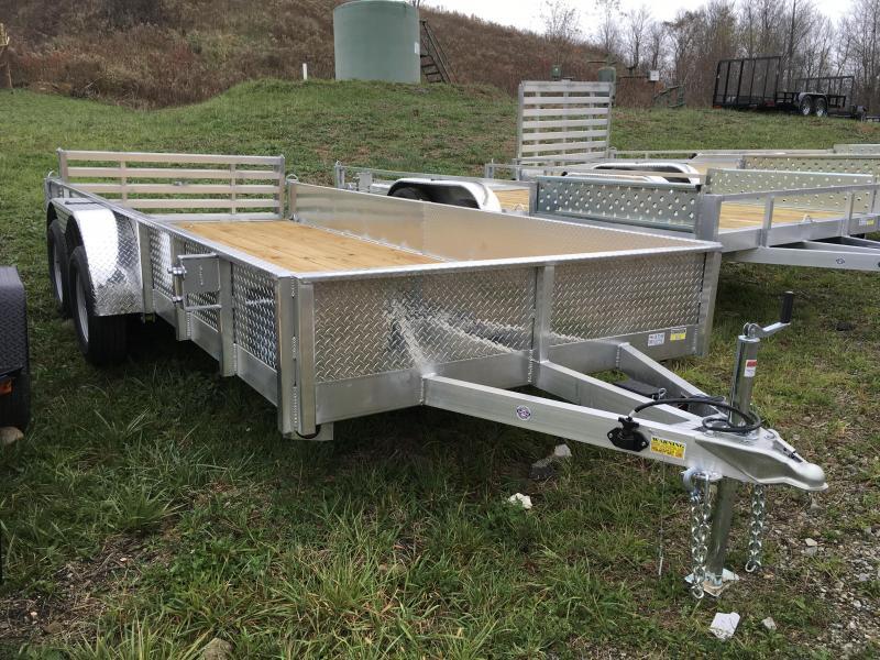 2018 QSA 7x16' Deluxe Aluminum Utility Trailer 7000# GVW - ATP SIDES