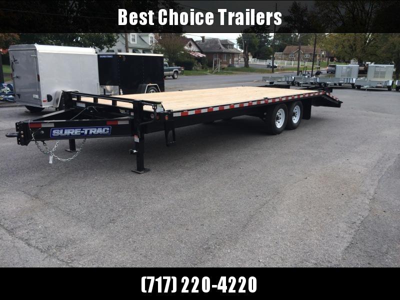 2017 Sure-Trac 102x20+5 15K Beavertail Deckover Trailer DUAL JACKS * FREE SPARE