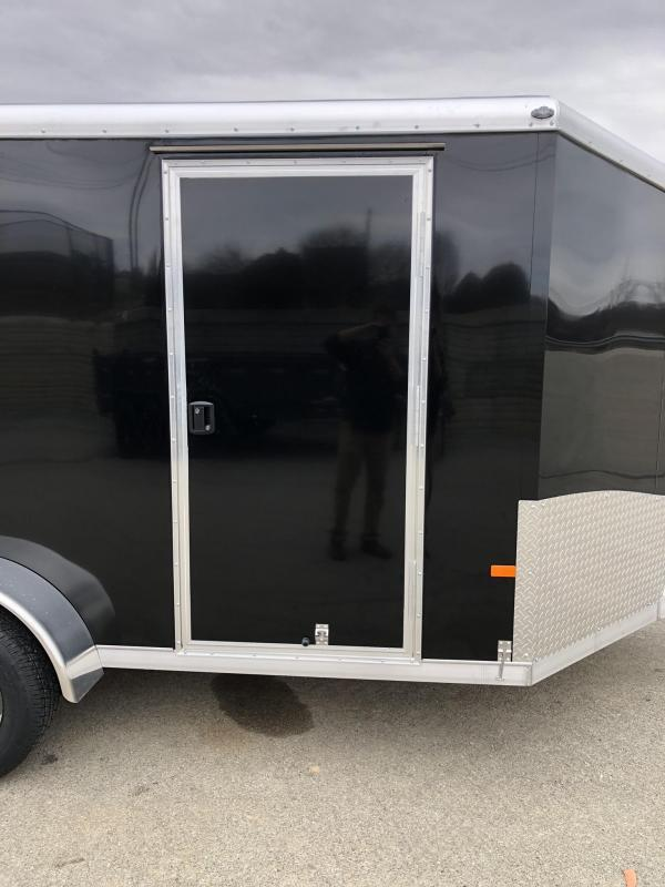 2019 NEO Trailers 7X14' NAMR Aluminum Enclosed Motorcycle Trailer * BLACK * CHARCOAL * VINYL WALLS * ALUMINUM WHEELS