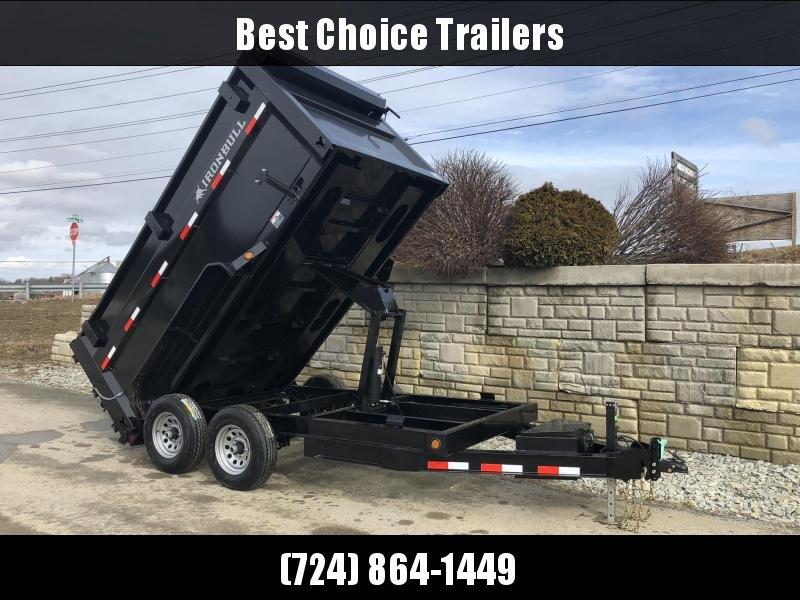 2019 Iron Bull 6x12' 4' HIGH SIDE Dump Trailer 9990# GVW * RAMPS * TARP * SCISSOR * 4' HIGH SIDES * I-BEAM FRAME