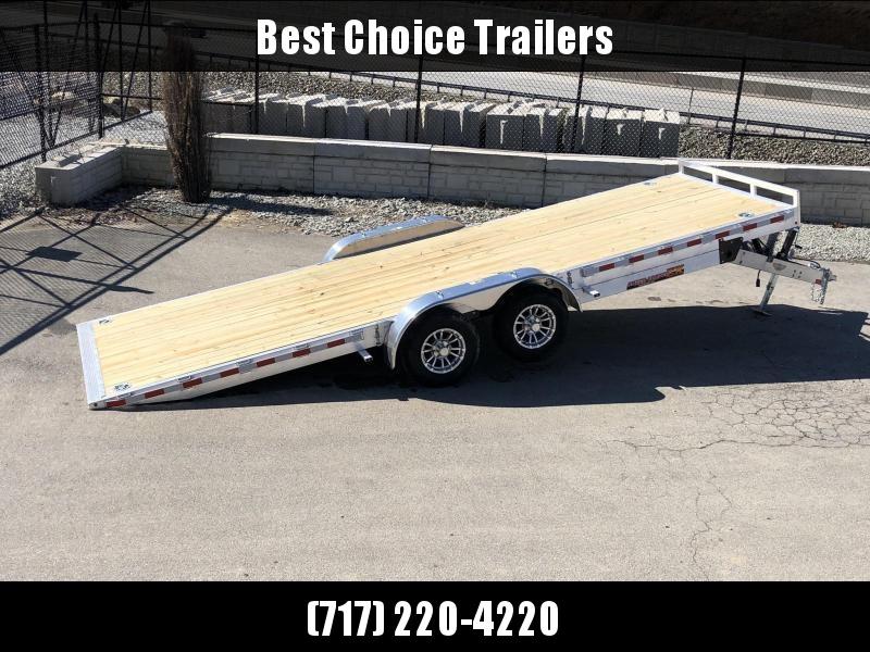 2019 H&H 7x22' Aluminum Power Tilt Equipment Trailer 14000# GVW * TORSION * 4 SWIVEL D-RINGS * 4 EXTRA STAKE POCKETS * TOOLBOX