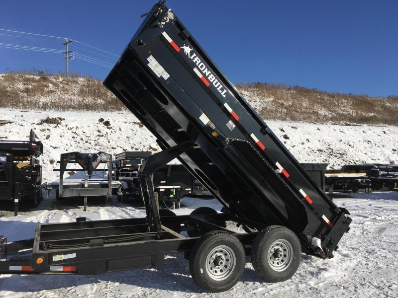 2018 Iron Bull 7x14' Dump Trailer 14000# GVW RAMPS * TARP * SCISSOR * CLEARANCE - FREE ALUMINUM WHEELS