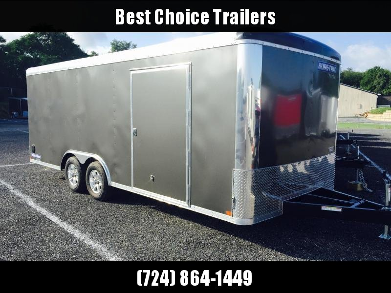 2018 Sure-Trac 8.5x20 Round Top Car Hauler 9900# GVW CHARCOAL * SCREWLESS EXTERIOR