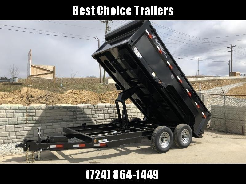 2018 Ironbull 7x14' 3' HIGH SIDES Dump Trailer 14000# GVW RAMPS * TARP * SCISSOR * TUBE JACK STANDS * SPARE MOUNT * ALUMINUM WHEELS