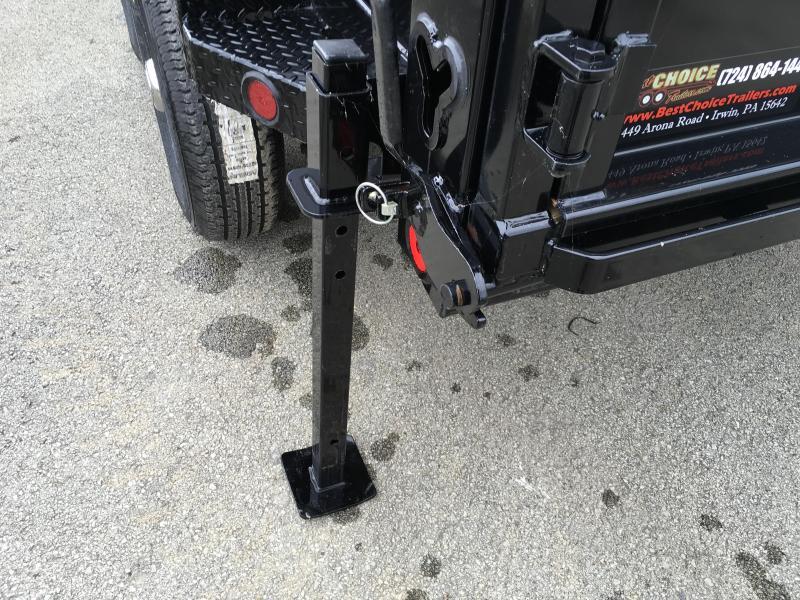 2018 Ironbull 7x14' 3' HIGH SIDES Dump Trailer 14000# GVW RAMPS * TARP * SCISSOR * TUBE JACK STANDS * SPARE MOUNT * CLEARANCE - FREE ALUMINUM WHEELS
