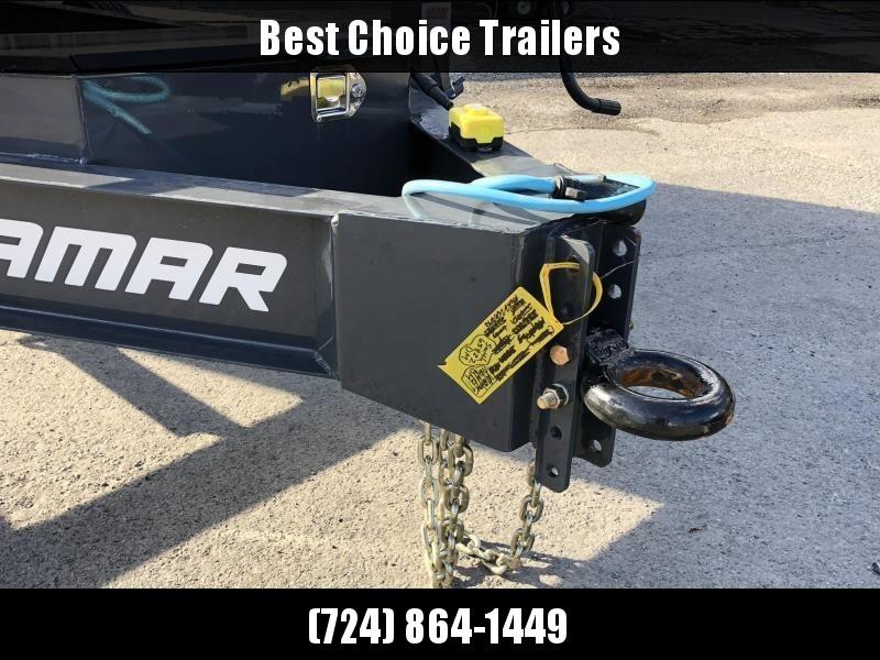 2019 Lamar 7x16' Dump Trailer 16000# GVW * 8K AXLE UPGRADE * TARP * RAMPS * DUAL 12K JACKS * 17.5