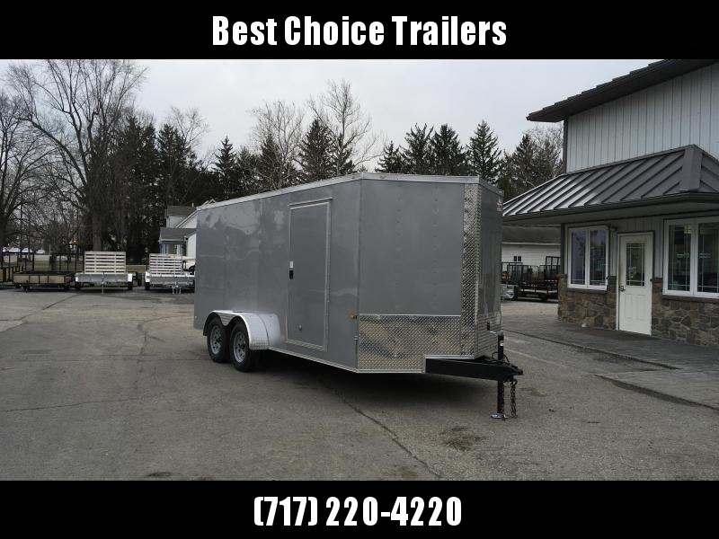 2018 Rock Solid 7x16' Enclosed Cargo Trailer 7000# GVW * CHARCOAL