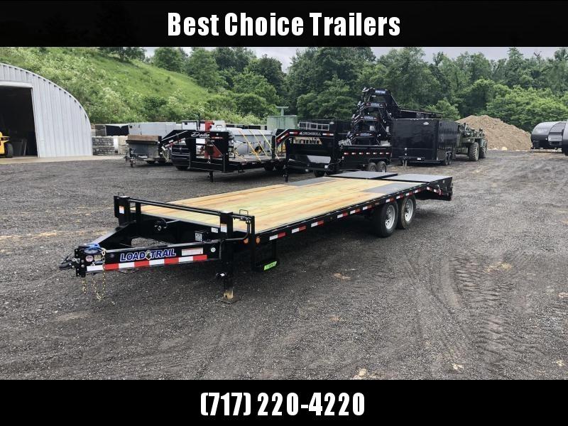 2019 Load Trail 102x24' Load Trail Beavertail Deckover Flatbed 14000# Trailer * PS0224072 * MAX RAMPS * DUAL JACKS * ZINC PRIMER * DEXTER'S * 2-3-2 WARRANTY