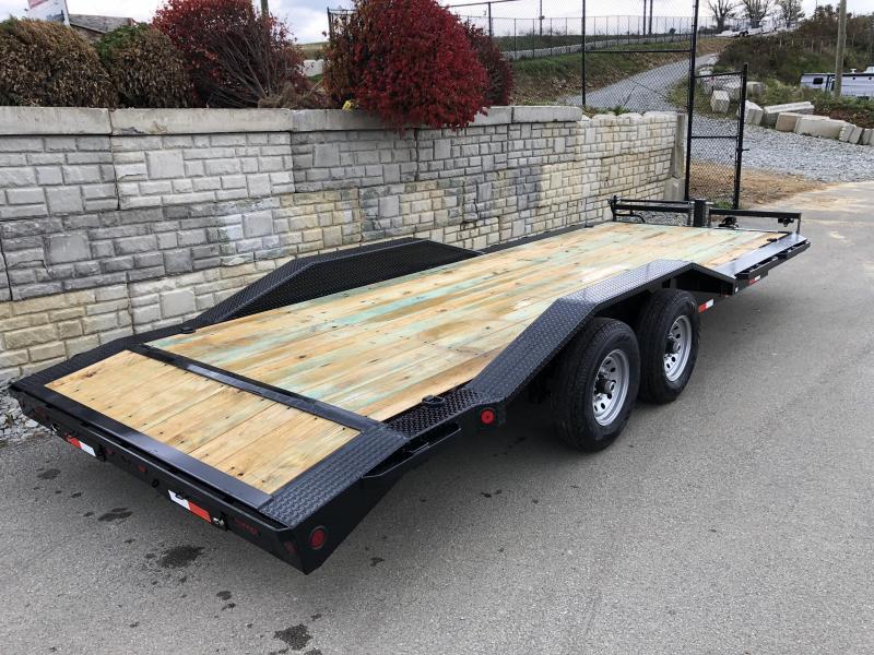 "2019 Iron Bull 102""x22' Wood Deck Car Trailer 14000# GVW * 102"" DECK * DRIVE OVER FENDERS"