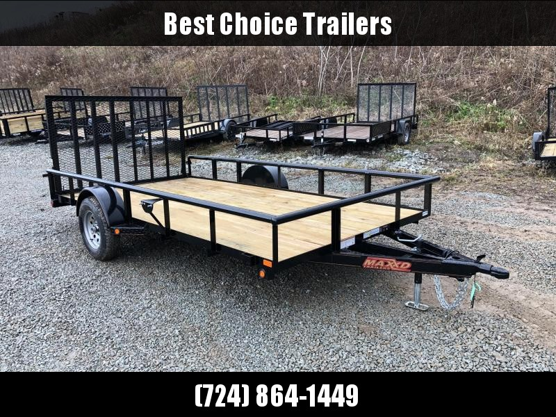 2019 MAXXD 7x12' Single Axle Utility Landscape Trailer 2990# GVW S3X8312 * PIPE TOP * SPRING ASSIST * HD MODEL