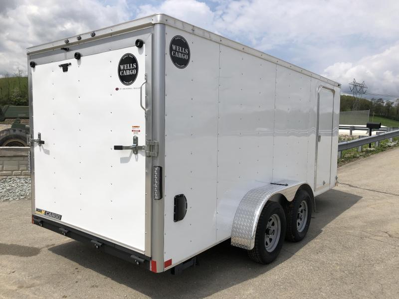 2018 Wells Cargo 7x16' VG300 Enclosed Cargo Trailer 7000# GVW * WHITE