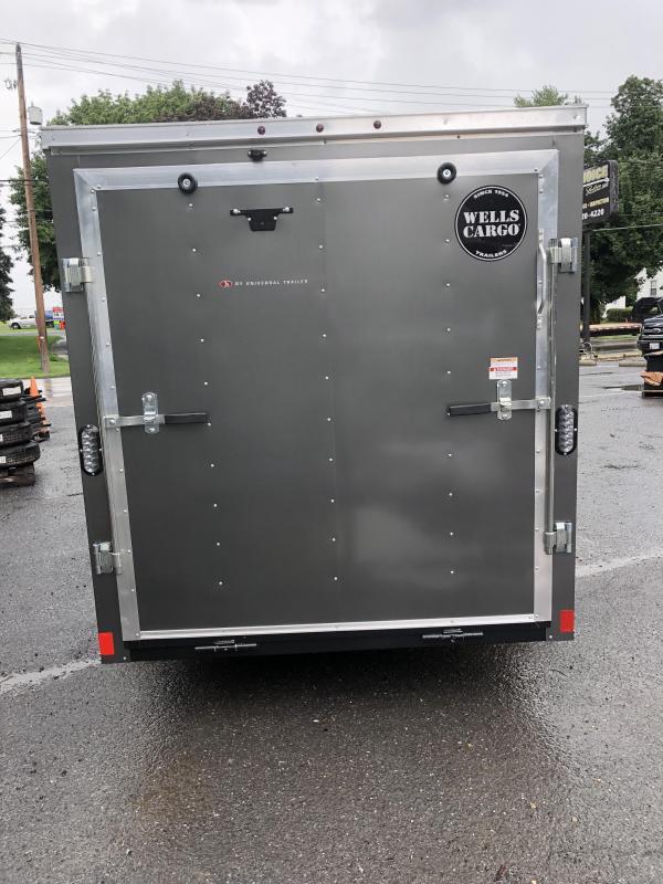 2018 Wells Cargo 6x12' Fastrac Enclosed Cargo Trailer 2990# GVW * CHARCOAL & PEWTER * RAMP DOOR