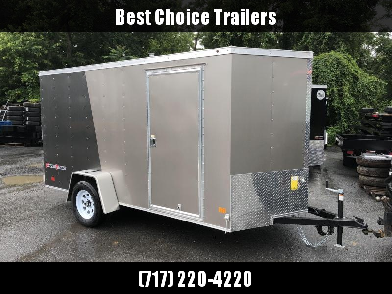 2018 Wells Cargo 6x12' Fastrac Enclosed Cargo Trailer 2990# GVW * CHARCOAL & PEWTER * RAMP DOOR