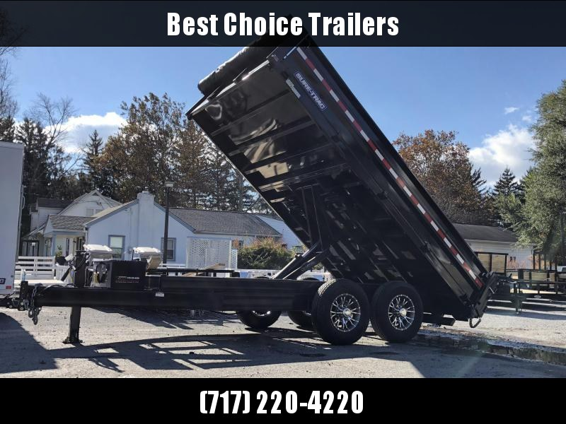 2018 Sure-Trac 8x14' HD Deckover Dump Trailer Fold Down Sides 14000# GVW * CLEARANCE - FREE ALUMINUM WHEELS