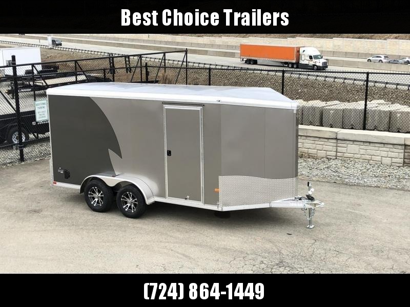 "2020 NEO Trailers 7X14' NAMR Aluminum Enclosed Motorcycle Trailer * CHARCOAL & PEWTER * VINYL WALLS * ALUMINUM WHEELS * +6"" HEIGHT"