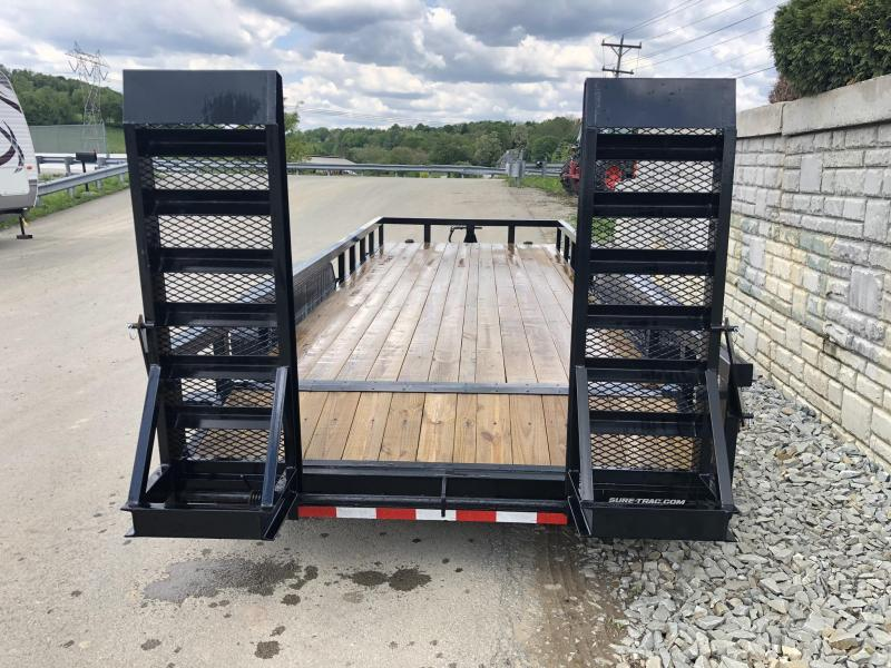 2019 Sure-Trac 7'x20' Heavy Duty Equipment Trailer 14000# GVW * NEW MODEL * HEAVY DUTY FEATURES