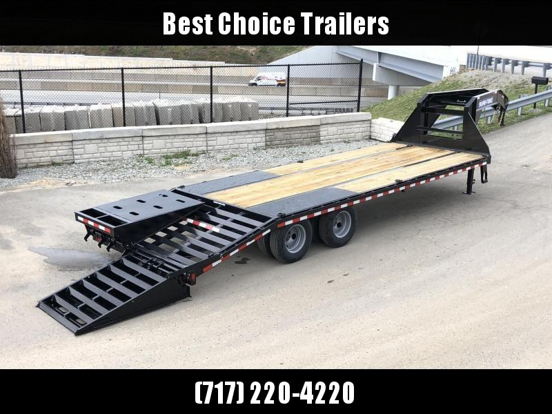 2019 Sure-Trac 102x20+5 22K Gooseneck Beavertail Deckover Trailer * PIERCED FRAME * FULL WIDTH RAMPS