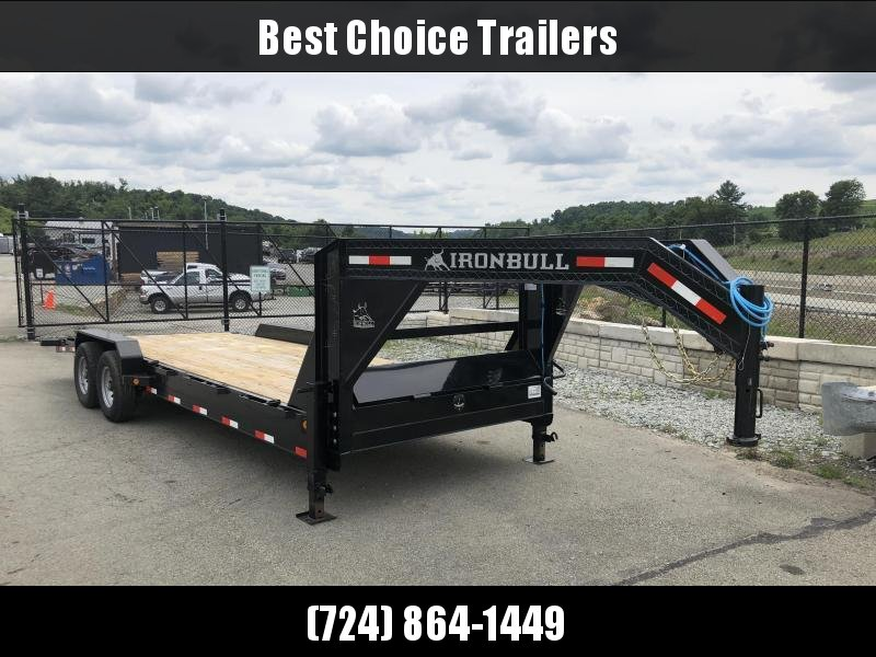 2018 Ironbull 7x24' Gooseneck Car Hauler Equipment Trailer 14000# * WINCH PLATE * 4' DOVETAIL
