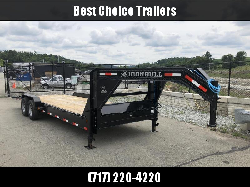 2018 Ironbull 7x24' Gooseneck Car Hauler Equipment Trailer 14000# * WINCH PLATE * CLEARANCE - FREE ALUMINUM WHEELS