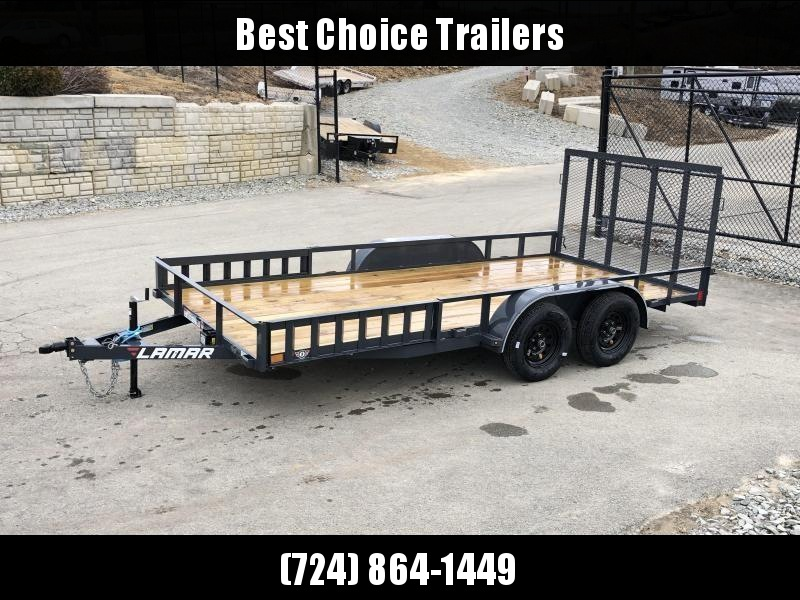 2019 Lamar 7x16' ATV Utility Trailer 7000# GVW * ATV SIDE RAMPS * 7' WIDTH * CHARCOAL