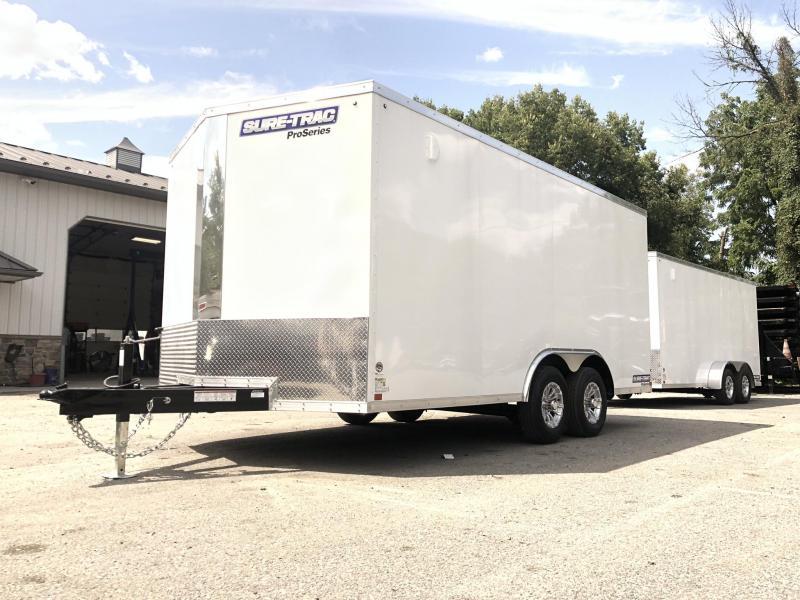 2019 Sure-Trac 8.5x16' Enclosed Cargo Trailer 9900# GVW * WHITE * CONTRACTOR/LANDSCAPER TRAILER