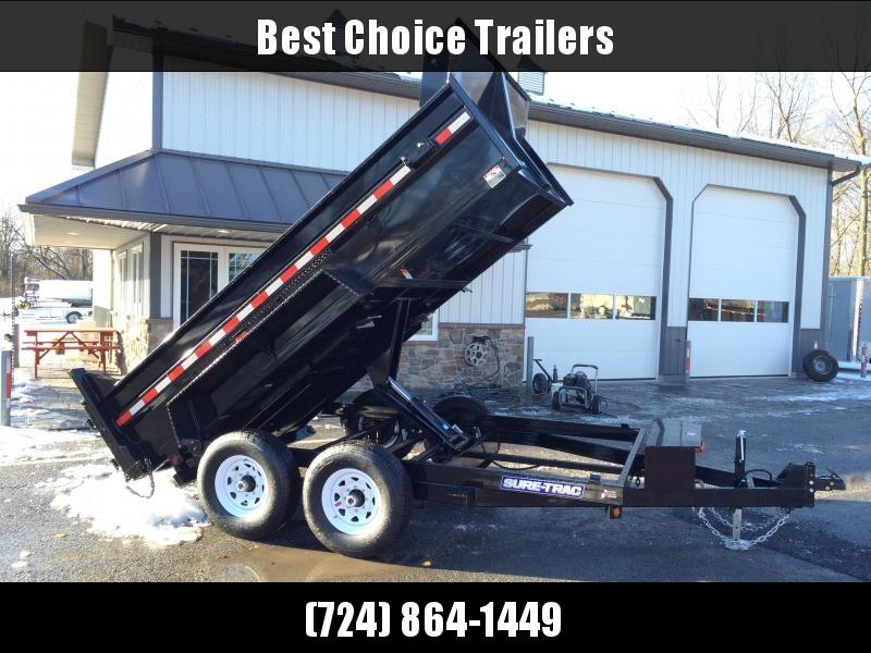 2018 Sure-Trac 7x12' HD LowPro Dump Trailer 12000# GVW - SCISSOR HOIST - ST8212HLOD-B-120 * CLEARANCE - FREE ALUMINUM WHEELS