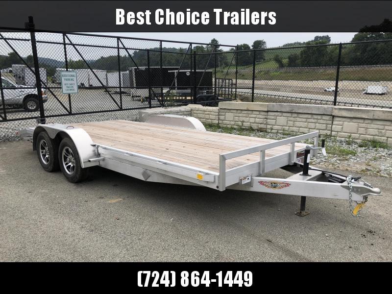 2018 H&H 7x18' Aluminum Car Hauler 7000# GVW ALUMINUM WHEELS HEAVY FRAME * SPARE MOUNT * CLEARANCE in Ashburn, VA