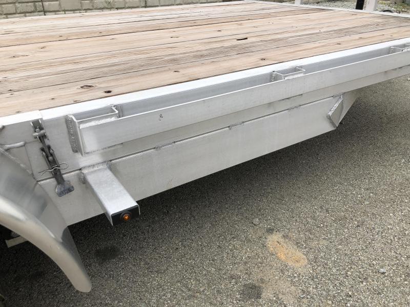 2018 H&H 7x18' Aluminum Car Hauler 7000# GVW ALUMINUM WHEELS HEAVY FRAME * SPARE MOUNT