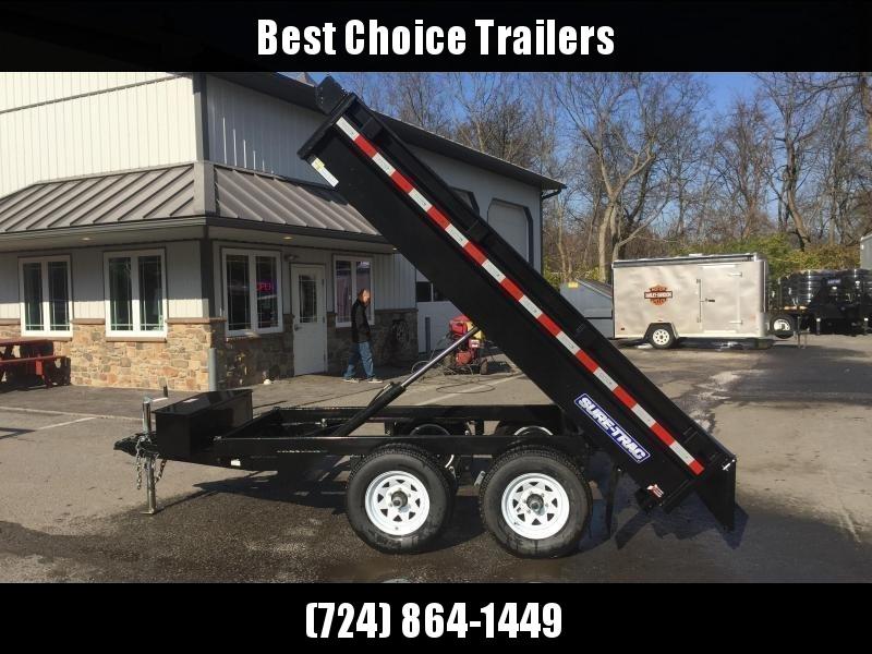 2018 Sure-Trac 6x10' 9900# GVW SD Deckover Dump Trailer * FREE ALUMINUM WHEELS