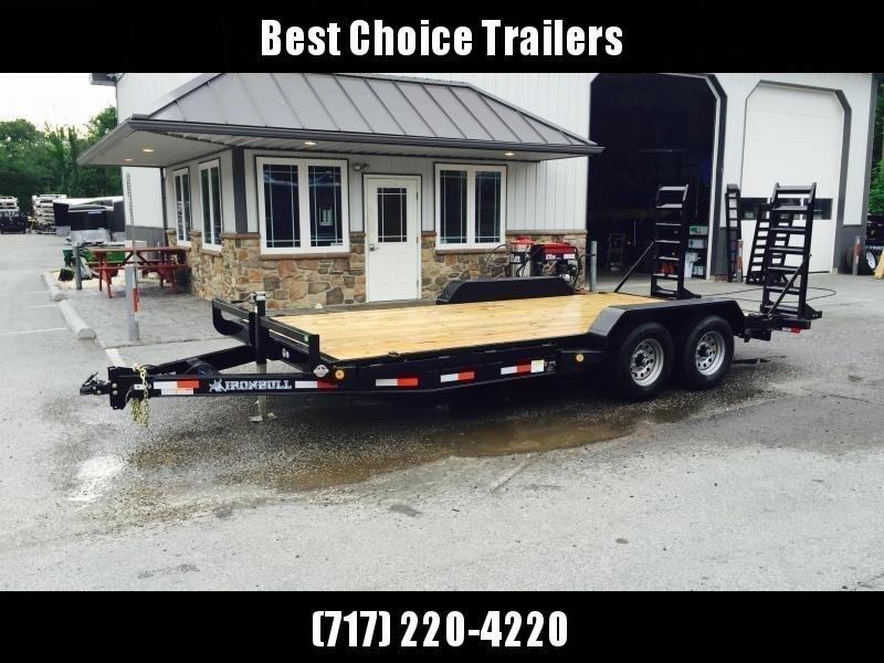 2019 Ironbull 7x16' Lowboy Equipment Trailer 9990# GVW STAND UP RAMPS in Ashburn, VA