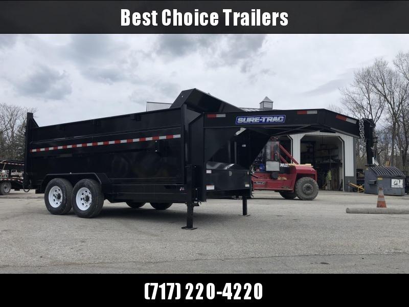 2019 Sure-Trac 7x14' Gooseneck Dump Trailer 14000# GVW * 4' HIGH SIDES * I-BEAM NECK * FULL FRONT TOOLBOX