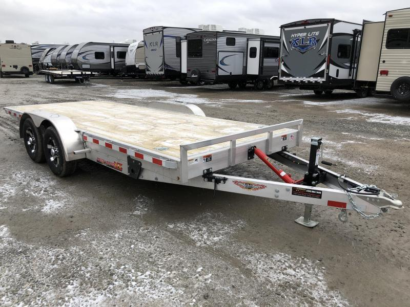 2018 H&H 7x20' Manual Tilt Aluminum Car Hauler 9990# GVW