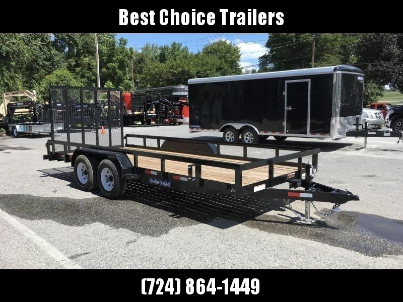2019 Sure-Trac 7x18 Tube Top Utility Landscape Trailer 9900# GVW * PROFESSIONAL LANDSCAPE SERIES * 5' HD GATE * REINFORCED GATE