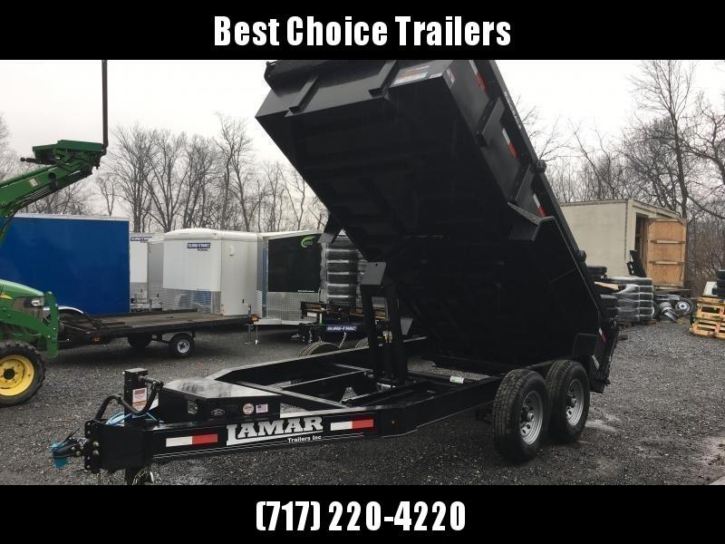 2019 Lamar 7x14' Dump Trailer 14000# GVW * TARP * 12K JACK * SPARE MOUNT * 7 GAUGE * SCISSOR * CHARCOAL