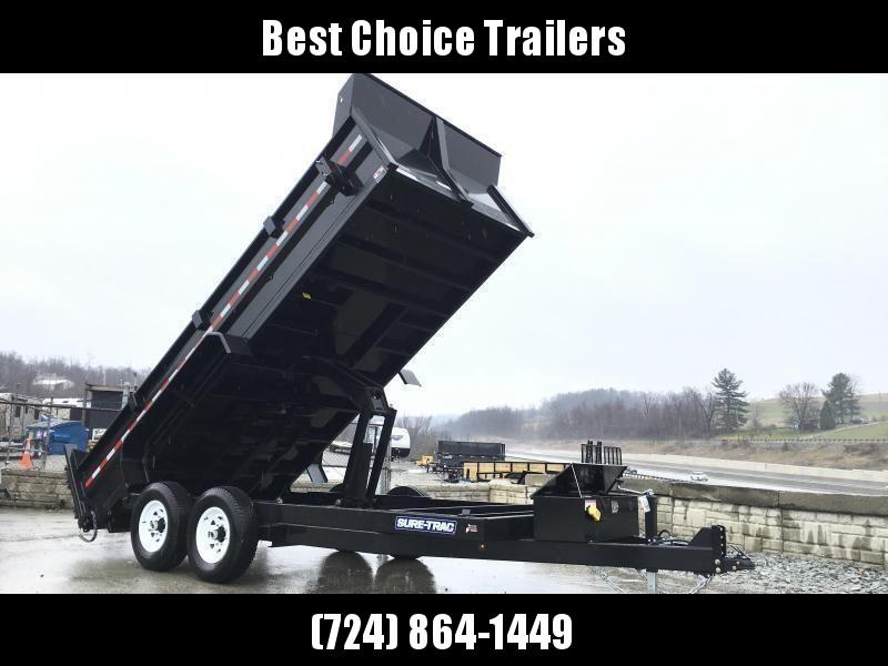 2019 Sure-Trac 7x14' LowPro HD Dump Trailer 14000# GVW * SCISSOR HOIST