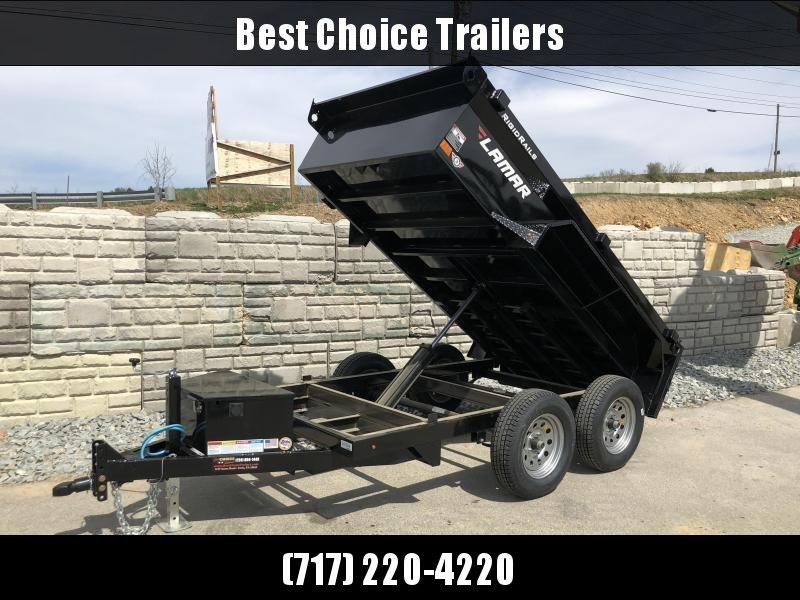 2018 Lamar 5x10' Tandem Axle DS60 Dump Trailer 7000# GVW - STANDARD * SPARE MOUNT * RAMPS * CHARCOAL W/ BLACK WHEELS