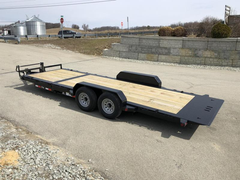 2019 Ironbull 7x16+4 Gravity Tilt Equipment Trailer 14000# TORSION * STOP VALVE