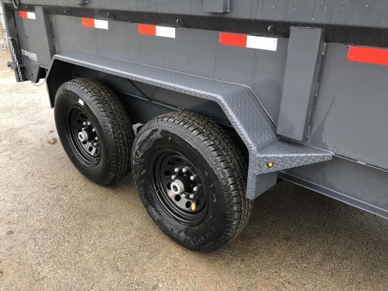 2019 Lamar 7x14' Gooseneck Dump Trailer 14000# GVW * TARP KIT * SCISSOR * RAMPS * CHARCOAL * 14-PLY RUBBER * SPARE TIRE * REAR SUPPORT STANDS