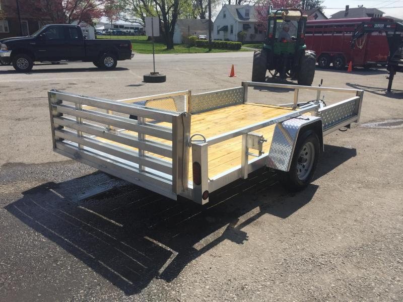2018 QSA 7x12 Deluxe Aluminum Utility Trailer SIDE ATV RAMPS * CLEARANCE - FREE ALUMINUM WHEELS
