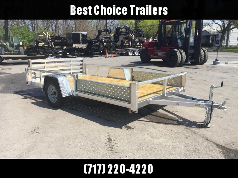 2018 QSA 7x12 Deluxe Aluminum Utility Trailer SIDE ATV RAMPS * CLEARANCE - FREE ALUMINUM WHEELS