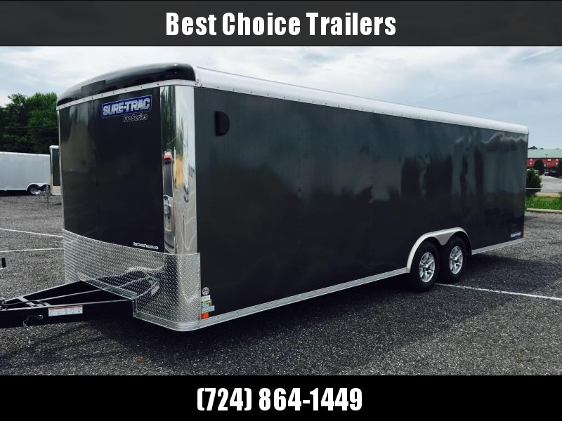 2019 Sure-Trac 8.5x24' Round Top Enclosed Car Hauler 9900# GVW * CHARCOAL * SCREWLESS