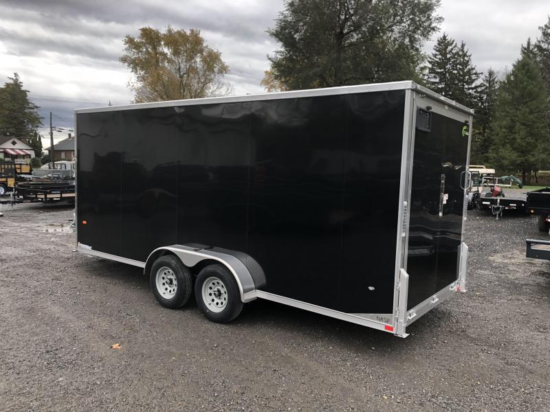 2019 Neo 7x22' Aluminum Enclosed Snowmobile All-Sport Trailer * 3-PLACE SLED/2-PLACE UTV * BLACK * 7' HEIGHT UPGRADE