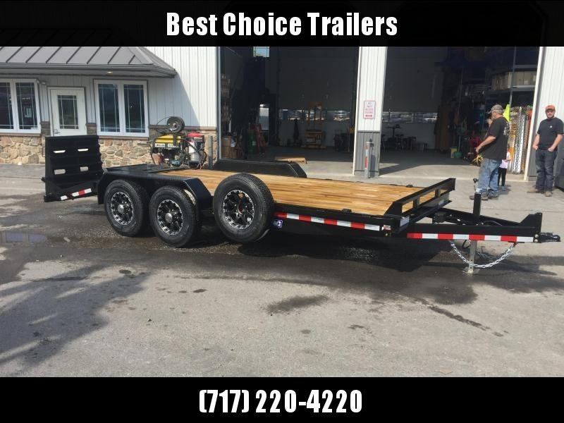 2019 Sure-Trac 7x17+3' Equipment Trailer 14000# GVW - UNIVERSAL RAMPS
