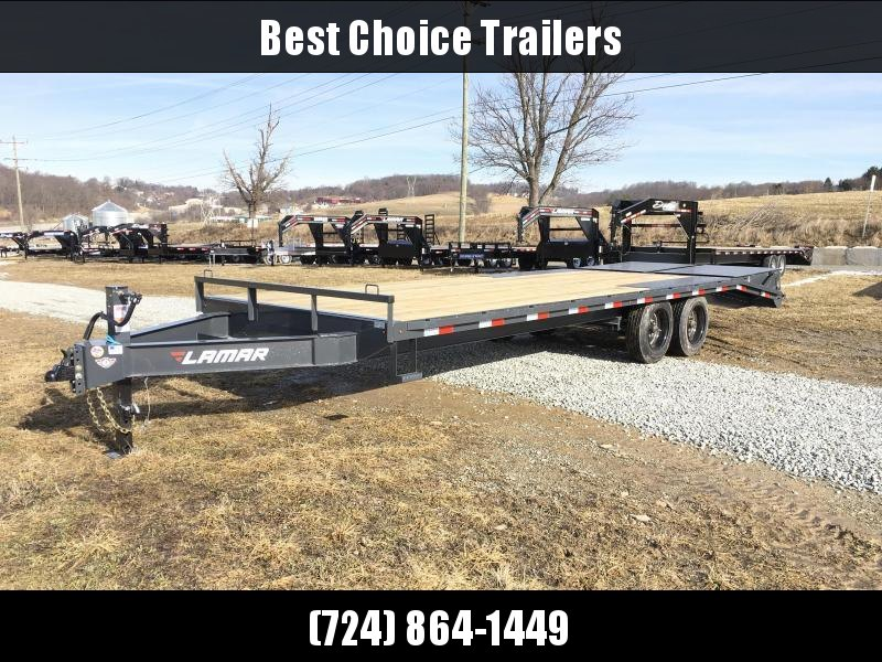 2018 Lamar F8 102x24' Beavertail Deckover Trailer 14000# GVW * FULL WIDTH RAMPS * CHARCOAL