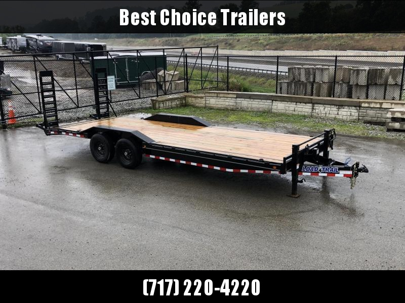 """2019 Load Trail 102x24' Equipment Trailer 14000# GVW * 102"""" DECK * DRIVE OVER FENDERS * 8"""" TONGUE & FRAME * DUAL JACKS * STAND UP RAMPS * RUBRAIL * DEXTER'S * 2-3-2 * POWDER PRIMER"""