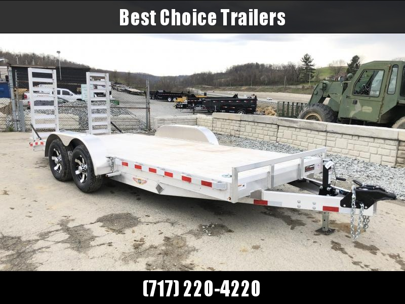 2018 H&H HAD 7x18 ALUMINUM Equipment Trailer 9990# GVW * EXTRUDED ALUMINUM FLOOR * TORSION * SWIVEL D-RINGS * EXTRA STAKE POCKETS